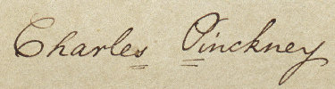 Founding Father Charles Pinckney Signature