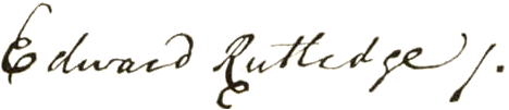 Founding Father Edward Rutledge Signature